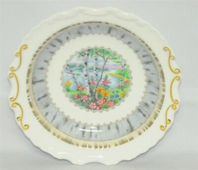 1-Royal Albert Silver Birch Ornate Round Candy Or Nut Dish
