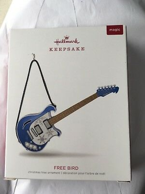 2018 Hallmark Free Bird Guitar Musical Xmas Ornament Lynyrd Skynyrd Magic NEW