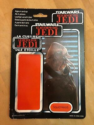 Vintage STAR WARS TRI-Logo Cardback Squid Head (cut bubble)