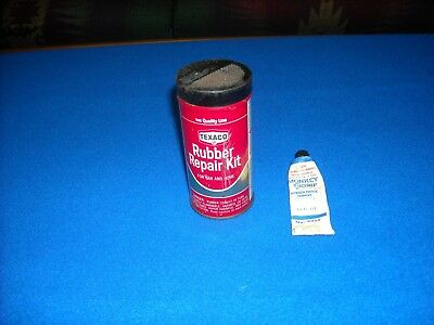 Vintage Texaco Rubber Repair Kit With Used Tube Of Monkey Grip