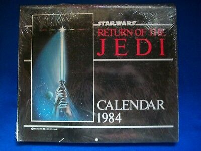 Return of the Jedi Sealed 1984 Calendar unused Star Wars Free Shipping Insurance