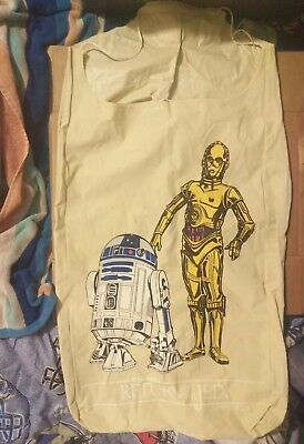 Vintage 1983 Star Wars Return Of The Jedi R2D2 C-3PO  Vinyl Laundry Bag RARE