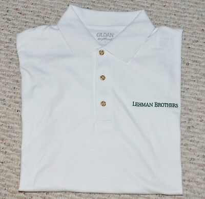 LEHMAN BROTHERS ~ POLO ~ GOLF SPORTSWEAR ( Large or X-Large )  ~ SEE BOGO OFFER!