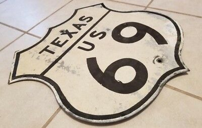Vintage Authentic Texas U.s. Highway 69 Road Shield Sign Used, Not Route 66