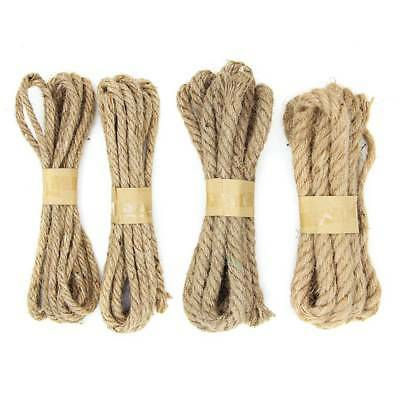 1 Roll Natural Hemp Linen Cord Twisted Burlap Jute Twine Rope String Craft Decor