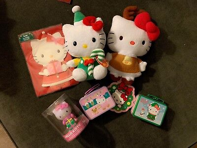 Hello Kitty Christmas Lot Reindeer Candy Cane