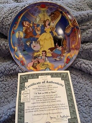 Beauty and Beast Musical Bradford Exchange plate w/ certificate
