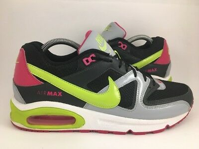 Nike Womens Air Max Command Running Shoes 397690-146 Sz 10 US Black White  Pink d3054e2a9