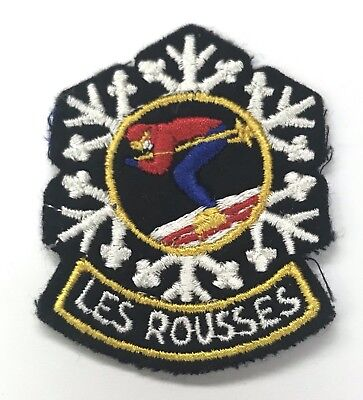 LES ROUSSES Vintage Skiing Ski Travel Patch Ecusson FRANCE Resort Souvenir