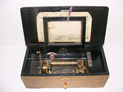 """ANTIQUE 8-AIR CYLINDER MUSIC BOX BY """"QUALITE EXCELSIOR"""" SUPERETRA c1800s WORKING"""