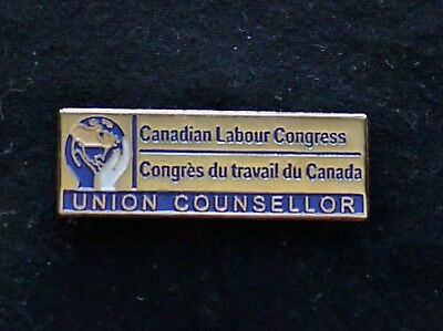 Vintage Collectible Pin: CLC Canadian Labor Council Union Counselor Lapel Pin