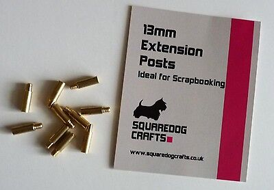 15mm NICKEL EXTENSION POSTS 10 PK - IDEAL FOR SCRAPBOOKING