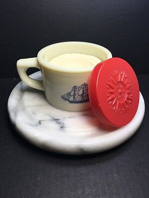 Vtg Old Spice Shaving Mug/Cup W/Shave Soap And Lid Ship Grand Turk 1786