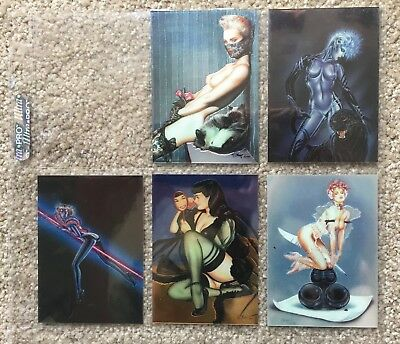 Olivia Series 2 - All Prism - Comic Images - 1993 - 5 Chromium Chase Cards
