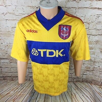 Crystal Palace 1997   1998 Away Football Shirt Adidas Yellow 97 98 Large  Mens d8404edc7