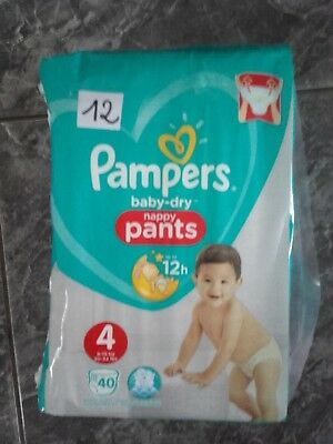 40 couches pampers pants t4