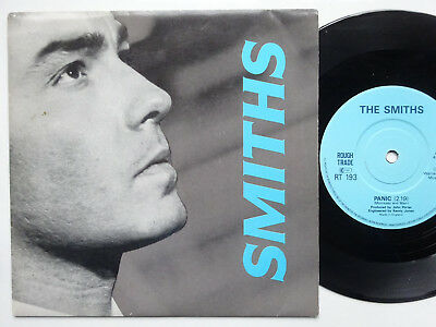 """THE SMITHS Panic/Vicar In A Tutu - EX/VG+ Cond Solid Centre 1986 Rough Trade 7"""""""