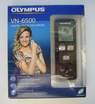 Olympus VN-6500 Digital Voice Recorder Boxed with guide and soft pouch
