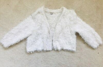 6748d50fe GIRLS CREAM FLUFFY Shaggy Faux Fur Shrug Age 11-12 years from River ...