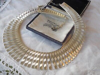 Gorgeous Vintage 1960s SILVER Cleopatra Necklace