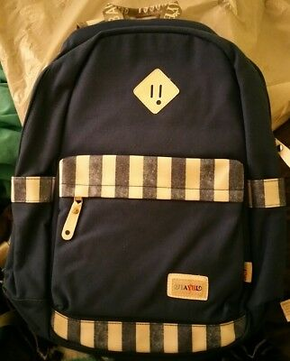 Mocha weir JIAYBL Laptop Backpack Blue with Stripes Backpack Casual Style