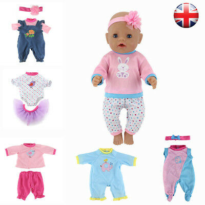 Toy Doll Clothes Hat Suit For 50cm Reborn Baby Doll Dolls Accessories Gifts UK