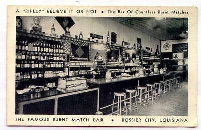 The Famous Burnt Match Bar Bossier City LOUISIANA *OLD B/W*