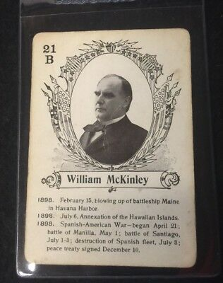 c.1900 In The White House Card Game William McKinley **06417