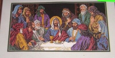 Jesus And The Last Supper  Stamped Cross Stitch Kit Dimensions 3206