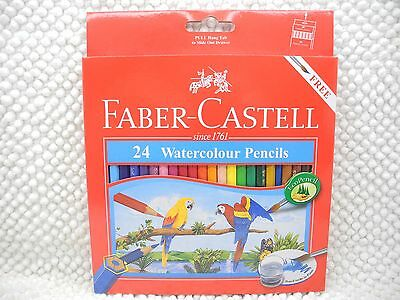 Brand New Faber-Castell 24 Watercolour Pencils W/brush & sharpener(Indonesia)