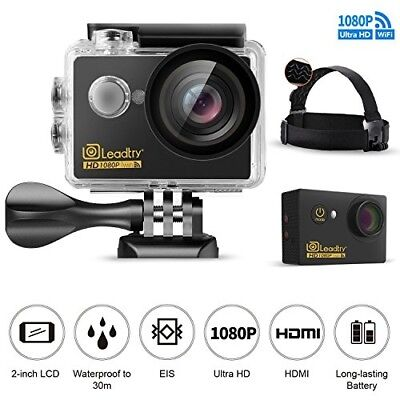 "LeadTry GK7 Sport Action Camera 1080P Full HD Wi-Fi 12MP Waterproof Cam 2"" LCD 3"