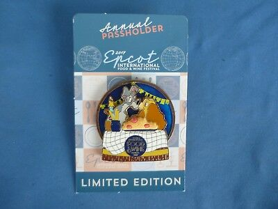 LADY TRAMP Disney Pin 2017  EPCOT Food & Wine Limited Edition PASSHOLDER NEW