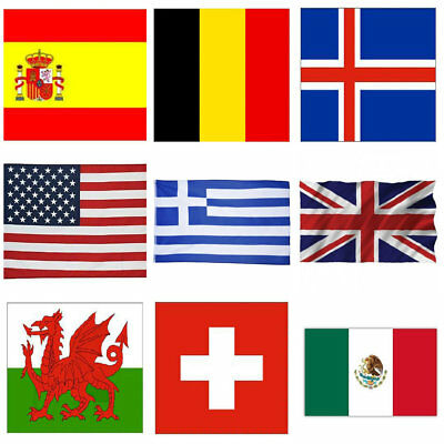 29 Polyester Countrys National World Flag 3x5 ft with 2 Brass Grommets 90*150cm