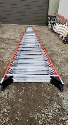PICK UP ONLY Werner 20 ft Fiberglass 300lb. T7420 Double sided Twin Step Ladder