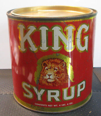 4 # 4 oz Can of King Syrup by Mangels, Herold Co Baltimore MD