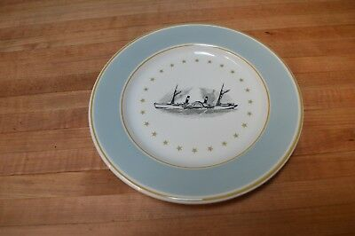 "Vintage Steamer Steam Ship Dinner Plate Collectible 10"" Syracuse China Euc"
