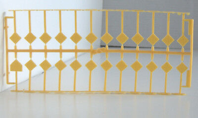 24 HO scale yellow road signs; with instructions