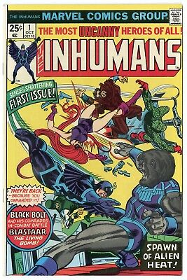 Inhumans #1 NM 9.4 ow/white pages  Marvel  1975  No Reserve