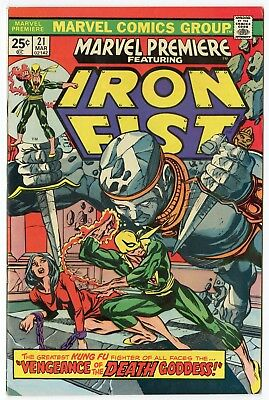 Marvel Premiere #21 VF/NM 9.0 off-white pages  Iron Fist  1975  No Reserve