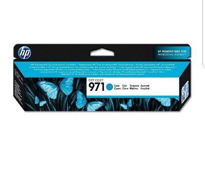 Hewlett Packard-HP971 Officejet InkjetCart Cyan CN622AE NEW, Exp dec 2019