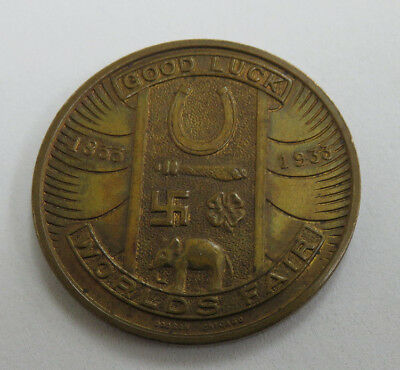 1934 Century of Progress Chicago World's Fair Goodluck Token