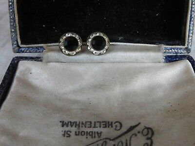 Dainty Vintage 1950s Paste Crystal Black Crystal Earrings