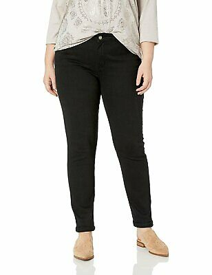 Cover Girl Women's Tall Plus Size Mid Rise Classic 5 Pocket Skinny Jeans,