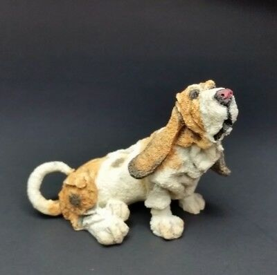HTF Rare Mini Basset hound dog Figurine CA04336 Country Artists A Breed Apart