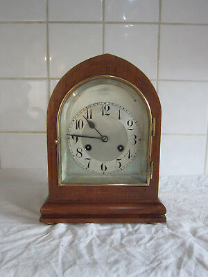 Wonderful Quality Chiming Oak Lancet Clock –circa 1900 -Junghans