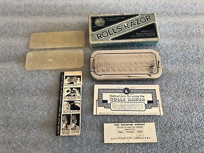 Vintage Rolls Razor Made in England *Complete with Papers & Box