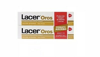 PACK 2 x  PASTA LACER OROS 125ml TOTAL 250ml TOOTHPASTE
