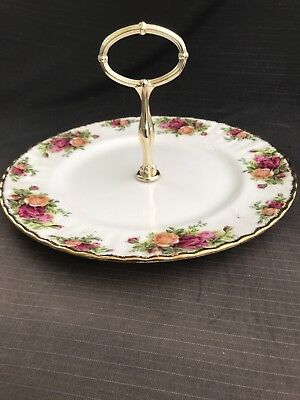 ROYAL ALBERT OLD COUNTRY ROSE Very Large Cake Stand Excellent
