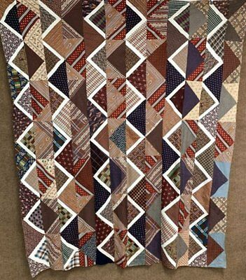Early Study...oh my! c 1850-60s Streaks of Lightning QUILT Top Antique Pennsylva