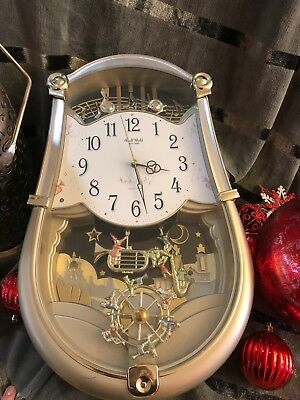 Small World Rhythm Clock/clarion Tone System/6 Songs Hourly/new Model 4Mh774